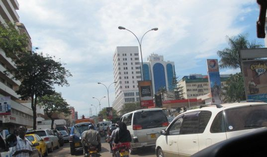 The busy city of Kampala. There's no carnavil ride that can compare to a boda-boda ride through downtown Kampala.