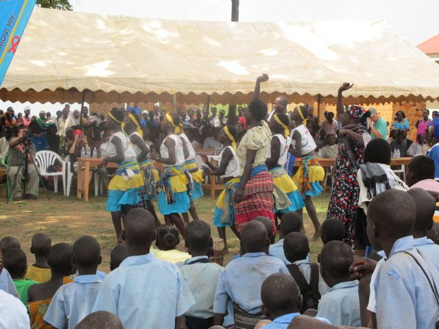 Traditional dances being performed.